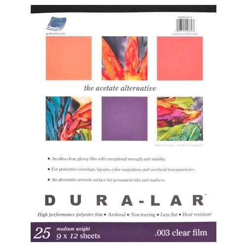 GRAFIX P05DC1417 CLEAR DURA LAR .005 14X17 25 SHEET PAD