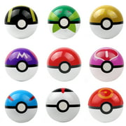 9PCS Pokemon pikachu Pokeball Cosplay Pop-up Master Great Ultra GS poke BALL Toy