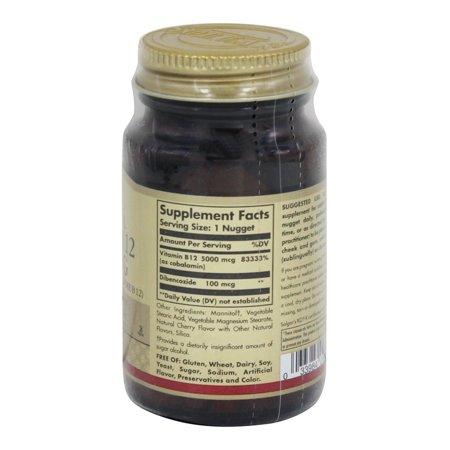 Best Solgar Vitamin B12 Sublingual 5000 mcg - 30 Nuggets deal