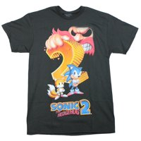 Sonic The Hedgehog 2 Mens T-Shirt - Classic Box Art With Tails Image