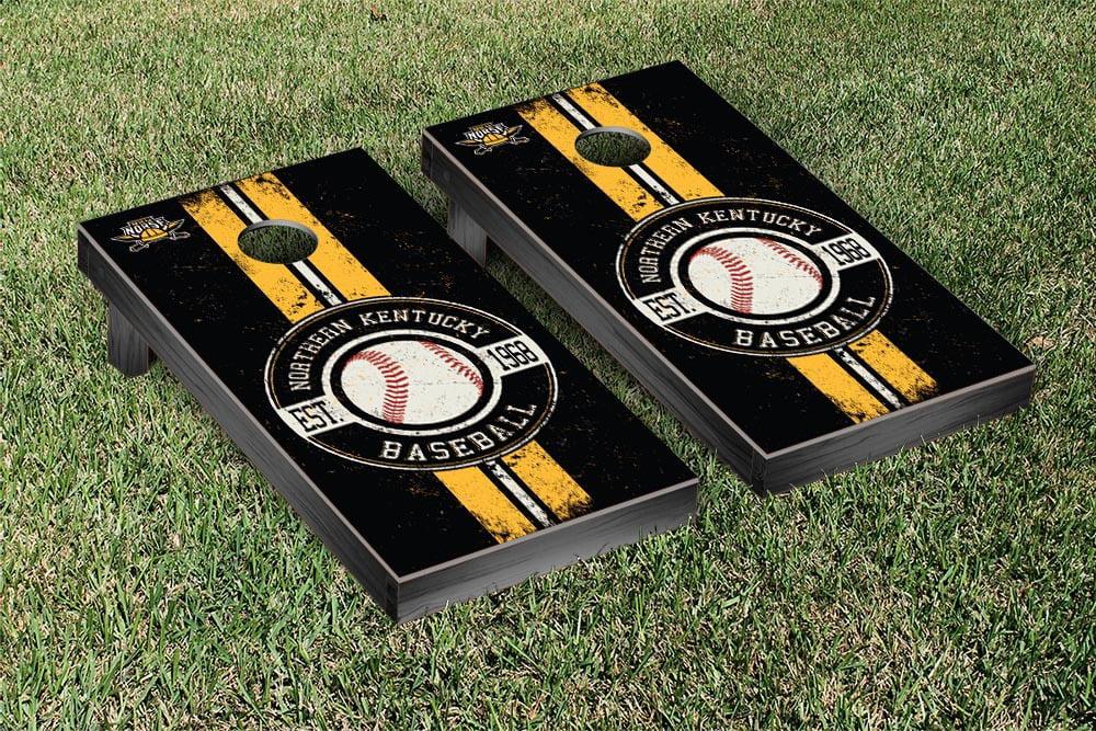 Northern Kentucky NKU Norse Regulation Cornhole Game Set Baseball Vintage Version by Victory Tailgate
