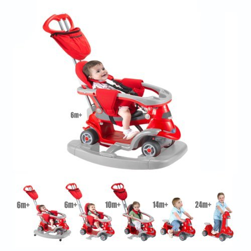 Smart Trike AIO 6-In-1 Kids Tricycle - Red