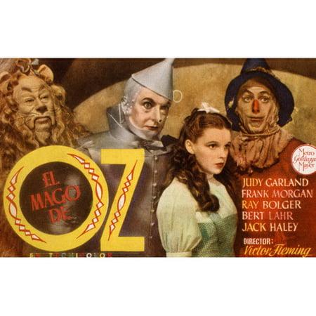 Tin Man Lion - Judy Garland Cowardly Lion Tin Man Scarecrow Spanish Art Wizard Oz 24x36 Poster