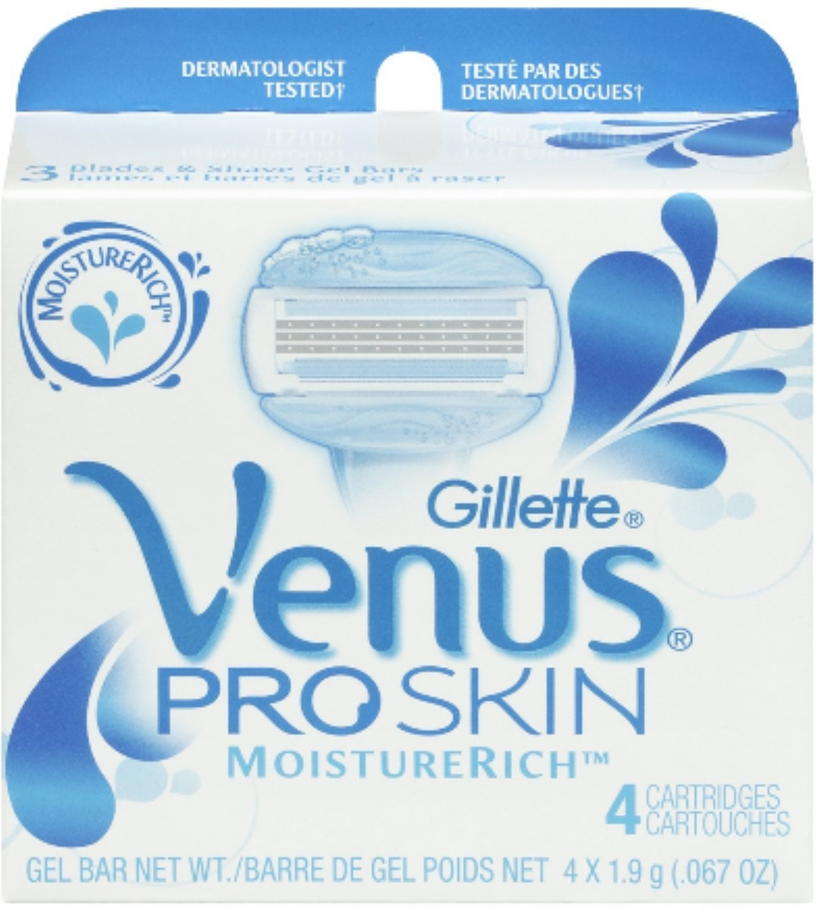 Gillette Venus ProSkin MoistureRich Cartridges 4 Each