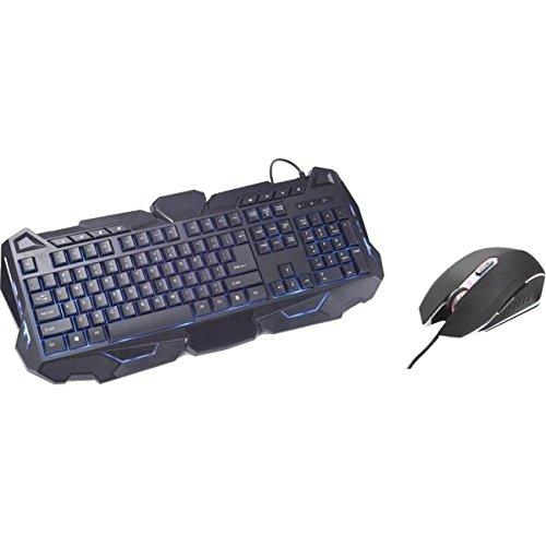 Inland Products Gaming Keyboard And Mouse Backlight Combo - Usb Cable 104 Key - Black - Usb Cable Optical - 2400 Dpi - 6 Button - Scroll Wheel - Qwerty - Black - Multimedia Hot Key[s] (70112_56)