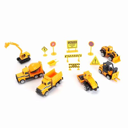 Mini Realistic Toy Alloy Construction Vehicle Kids Toy Engineering Car Dump Truck with Accessories