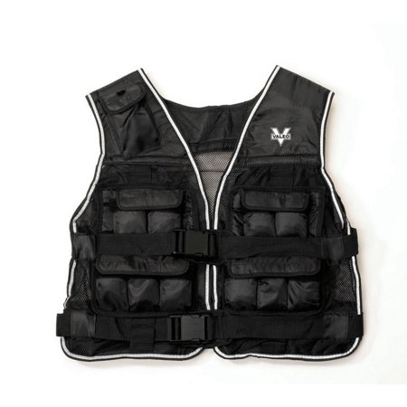 Valeo 40-Pound Weighted Vest With Removable 1 Pound Packs To Adjust From 2 to 40 Pounds Valeo Fitness Gear Cotton
