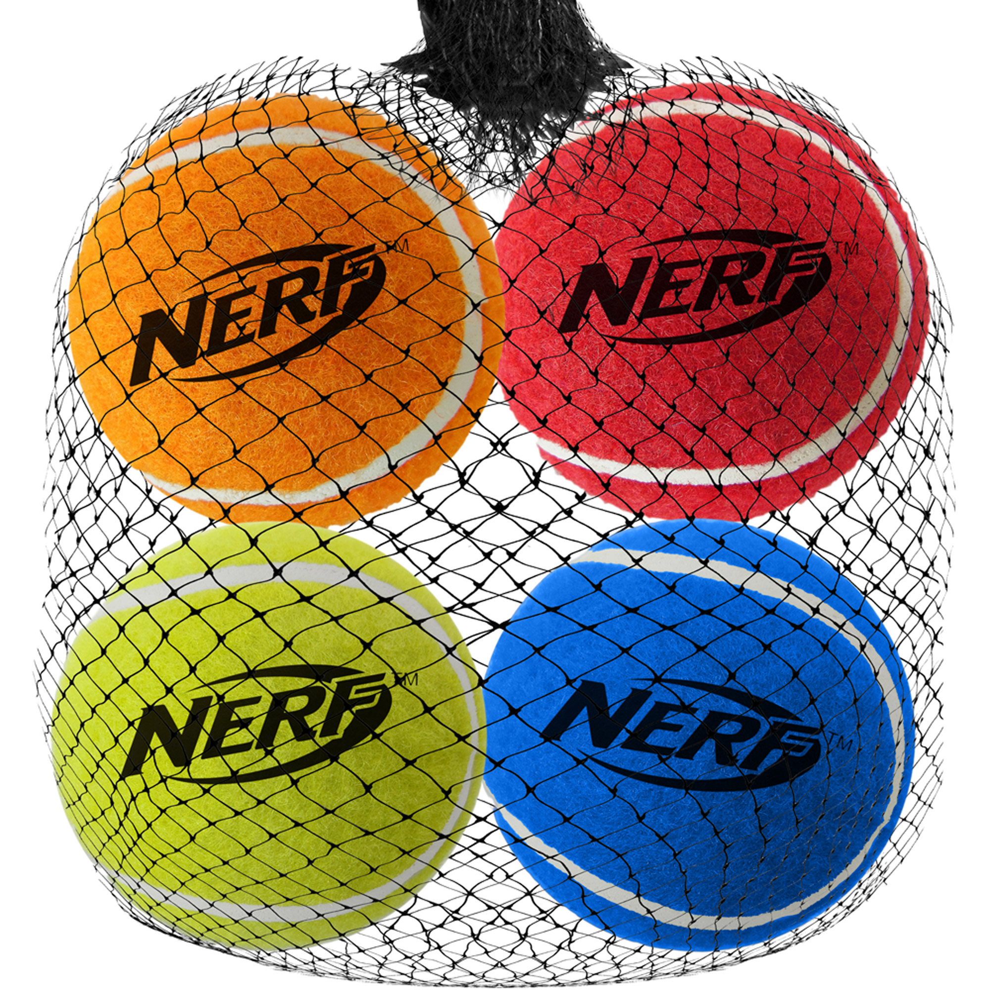 "NERF DOG 2"" Squeak Tennis Balls, 4pk"