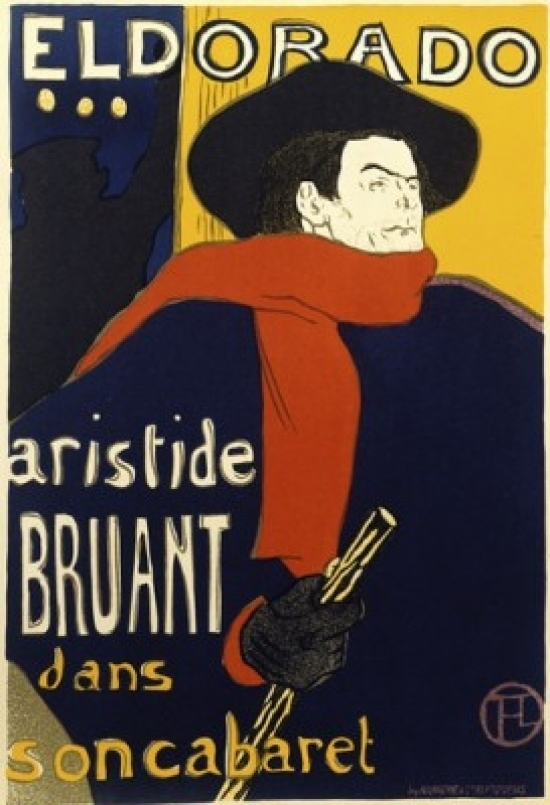 Aristide Bruant dans son cabaret trinket dish w free ship.