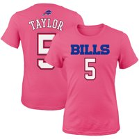Tyrod Taylor Buffalo Bills Girls Youth Mainliner Player Name & Number T-Shirt - Pink