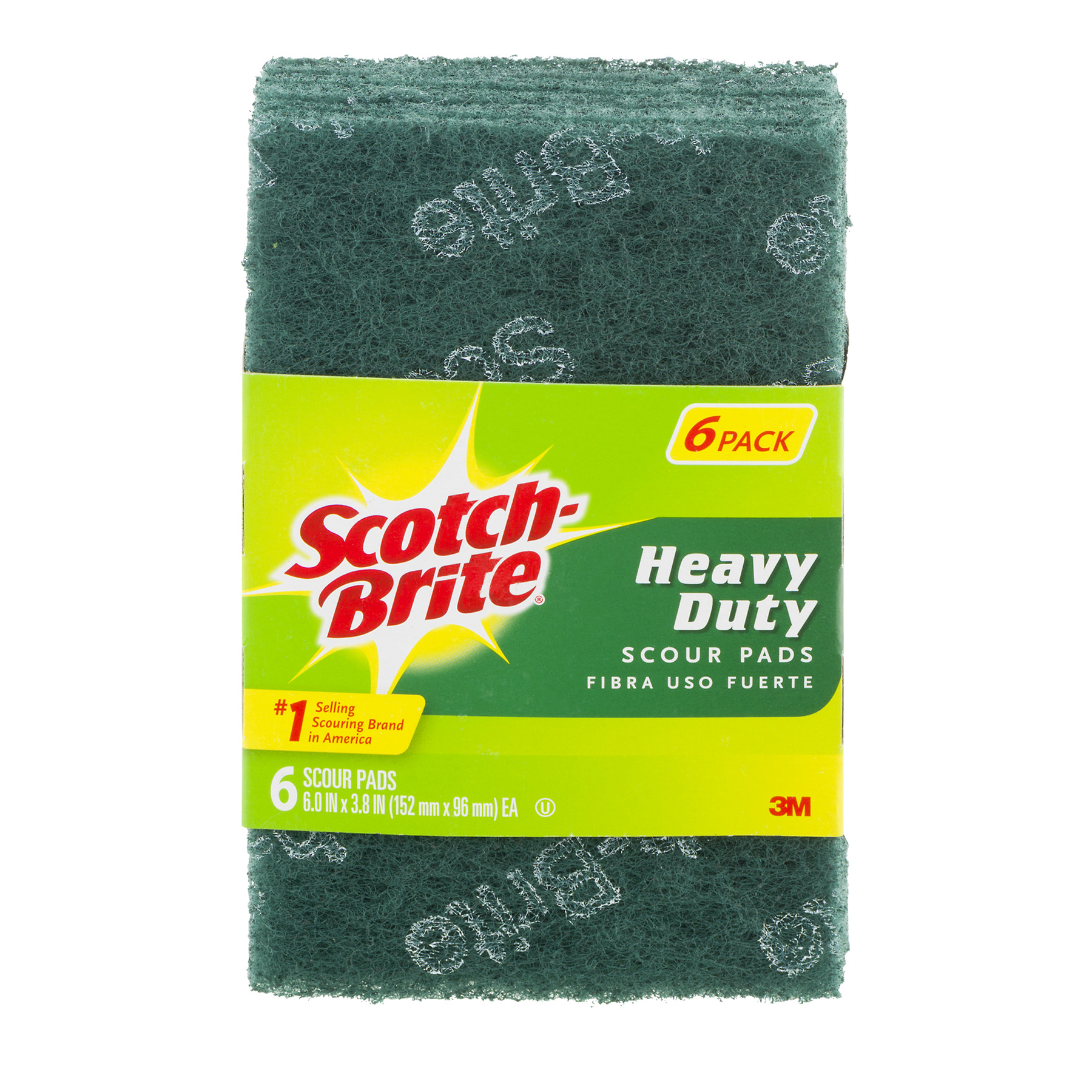 Scotch-Brite Heavy Duty Scour Pad 6 Pads per Pack