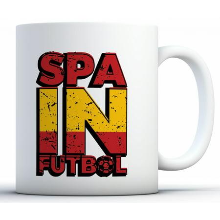 3f08abe491 Awkward Styles Spain Futbol Coffee Mug Spanish Soccer Mugs Soccer Gifts for  Men and Women Spain ...