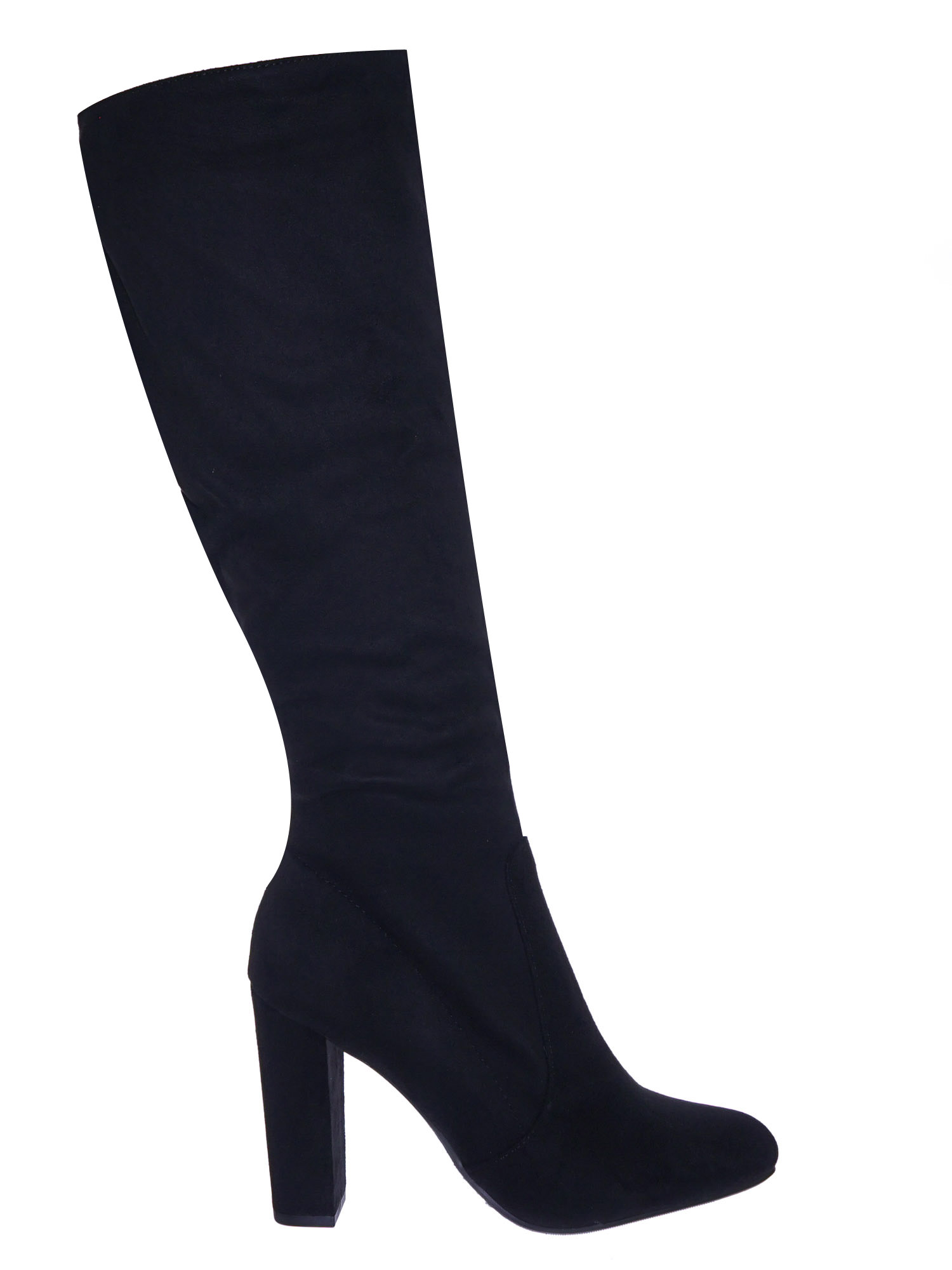 Suga by Delicious, Knee High Block Heel Dress Boots w Almond Toe