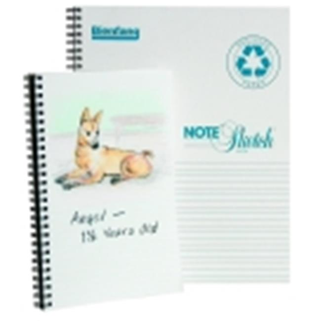 Bienfang 8.5 x 11 in. Note-Sketch Spiral Binding Horizontal Sketchbook - 64 Sheets, 60 Lbs.