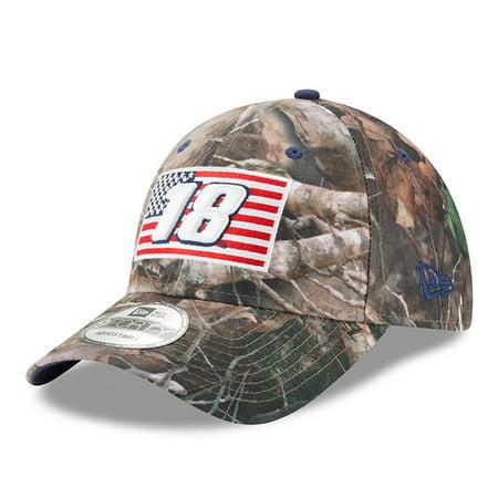 Kyle Busch New Era Flag 9FORTY Adjustable Hat - Camo - OSFA