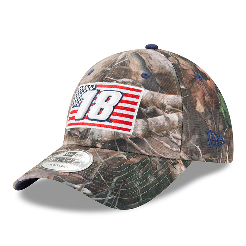 Kyle Busch New Era Flag 9FORTY Adjustable Hat - Camo - OSFA