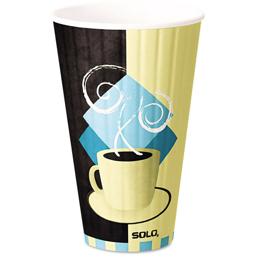 SOLO Cup Company Duo Shield Hot Insulated 20 Ounce Paper Cups, 350ct