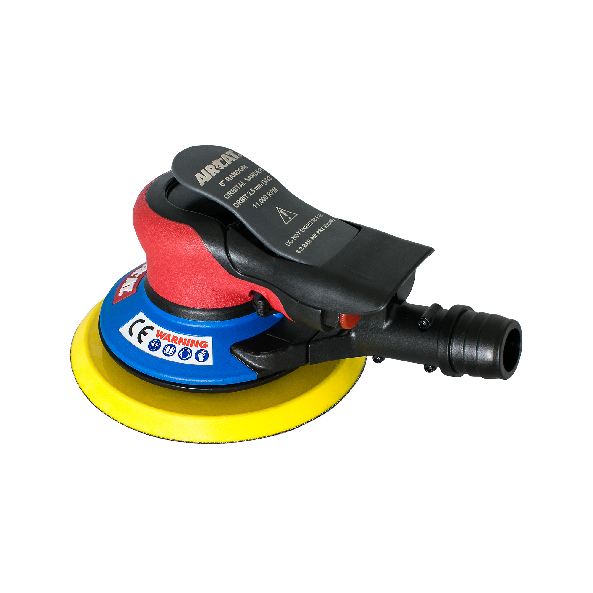 "AIRCAT 6"" Self Vacuum Palm Sander 3/32"" Orbit"