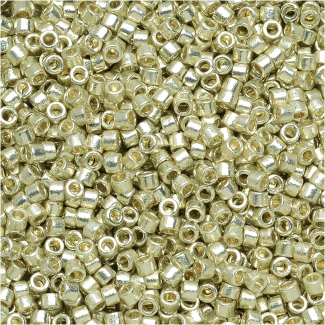 Miyuki Delica Seed Beads 11/0 - Duracoat Galvanized Silver DB1831 7.2 Grams