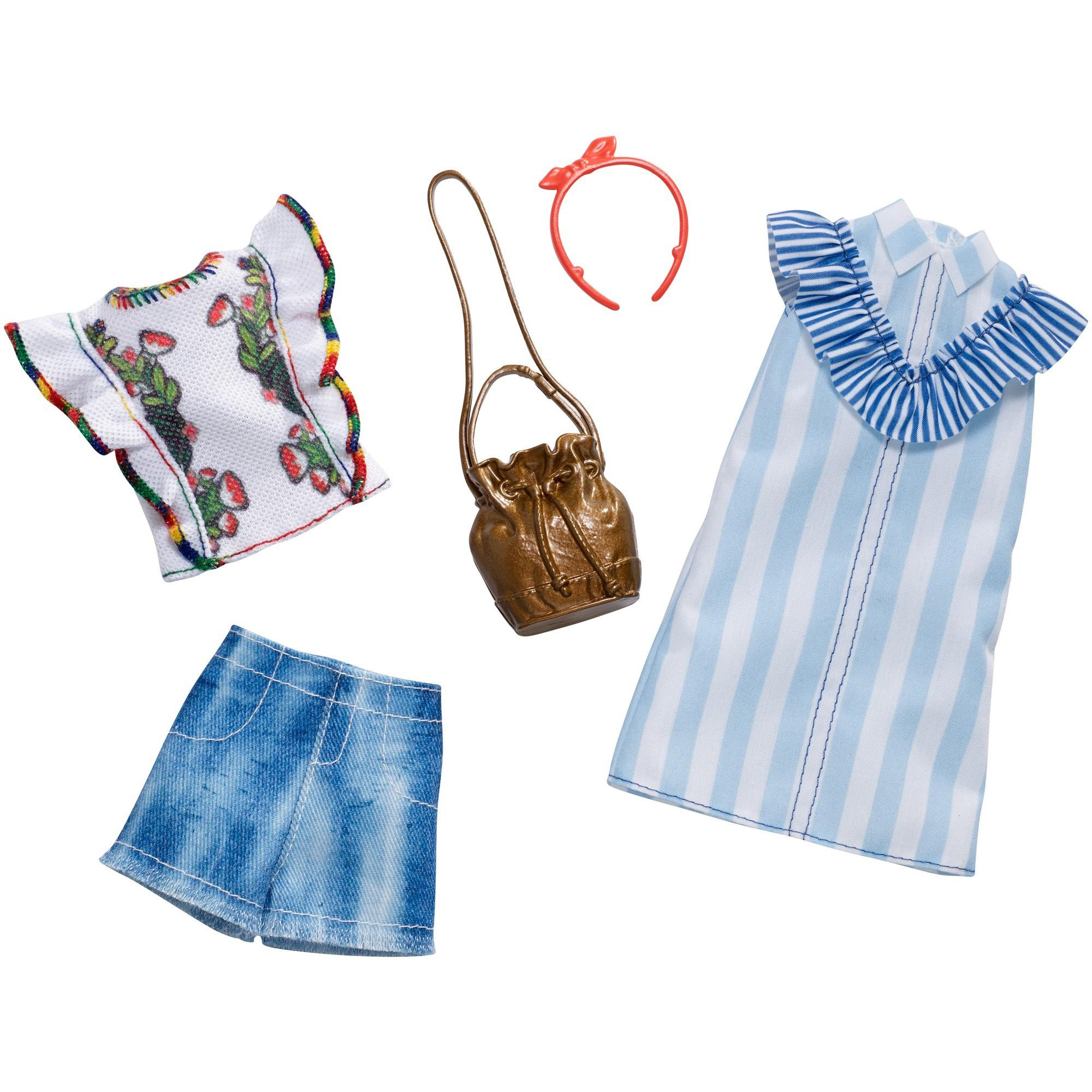 Barbie Floral Pinstripes Outfit Fashion Pack with Accessories