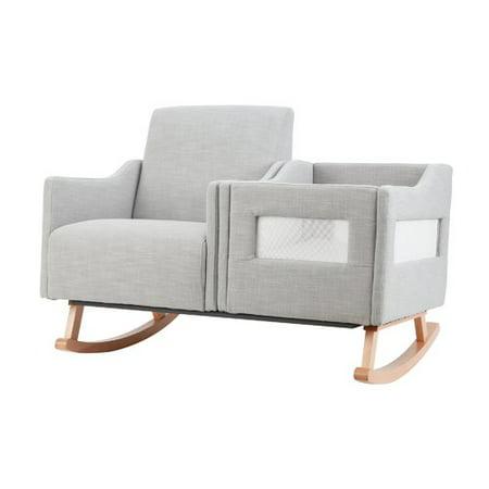 Groovy Karla Dubois Emerson Nursery Rocker Bassinet In Gray Unemploymentrelief Wooden Chair Designs For Living Room Unemploymentrelieforg