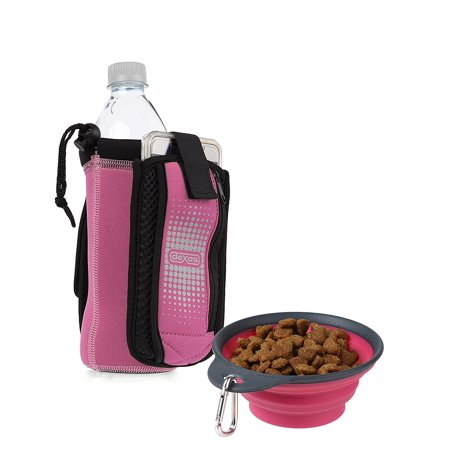 - Dexas Bottle Pocket Insulated Neoprene Bottle Holder with Travel Cup Pink 1.9oz