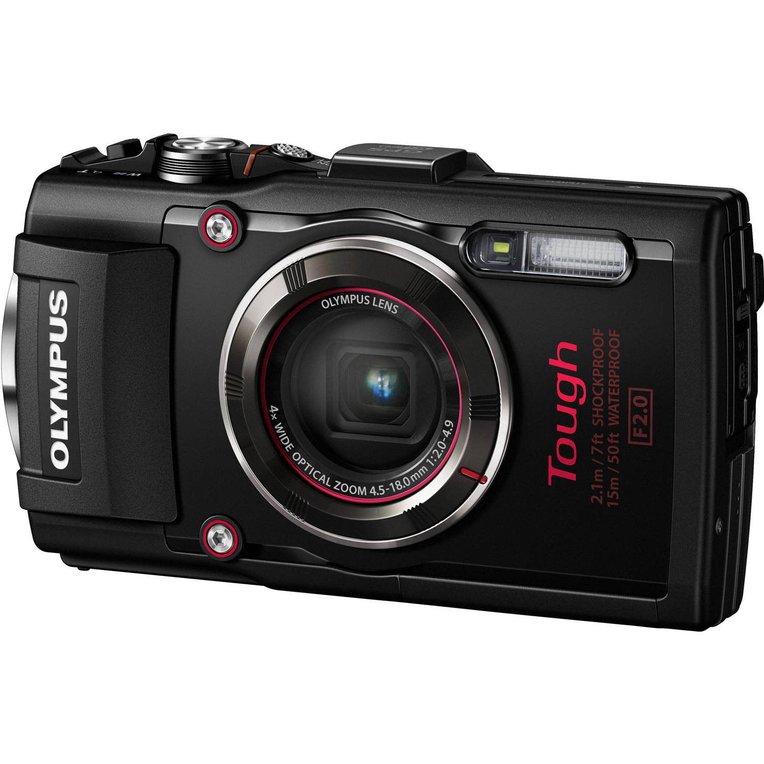 Olympus Black Tough TG-4 16MP Compact System Digital Camera with 16 Megapixels, 4x Optical Zoom and 4.5-18mm Lens Included