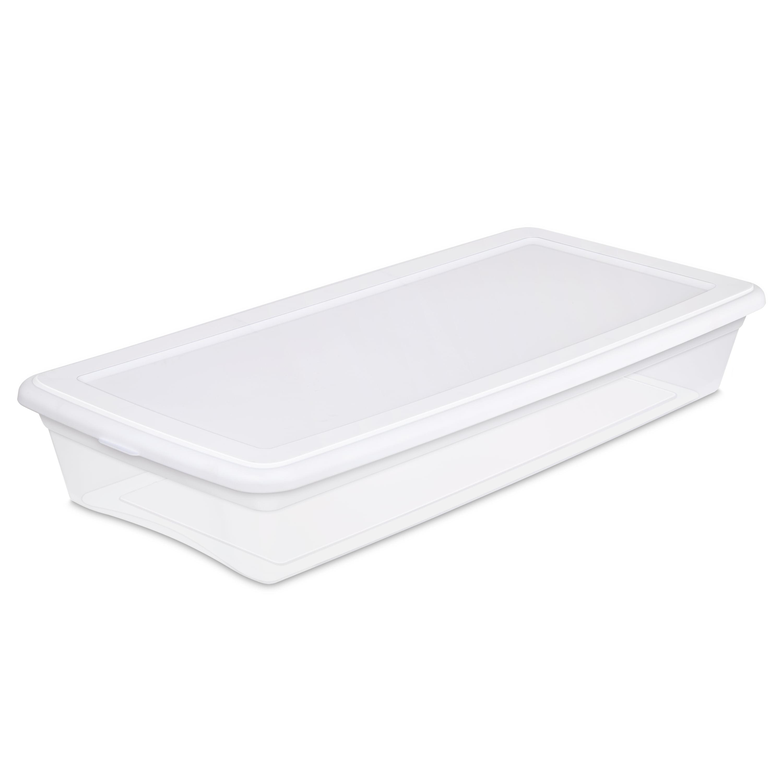 Sterilite 41 Qt./39 L Storage Box, Walmart White