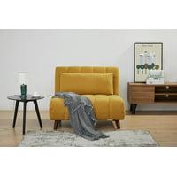 A&D Home Springfield Futon Convertible Chair, Yellow