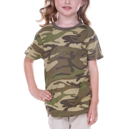 German Army Camouflage (Kavio TJP0616 Toddlers Camouflage Crew Neck Short Sleeve Tee-Camo Army)