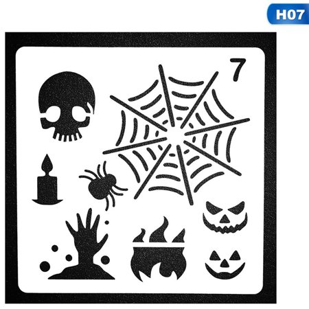 KABOER Halloween Painting Template Ruler Stencil Plastic Planner Stencils Journal\/Notebook\/Diary\/Scrapbook Diy Drawing Stencil (Craft International Stencil)