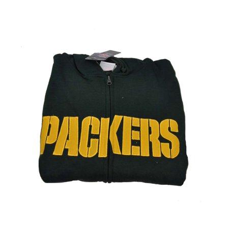 NFL Green Bay Packers Mens Green 2X Tall Full Zip Up Hoodie - Walmart.com 45dc54542