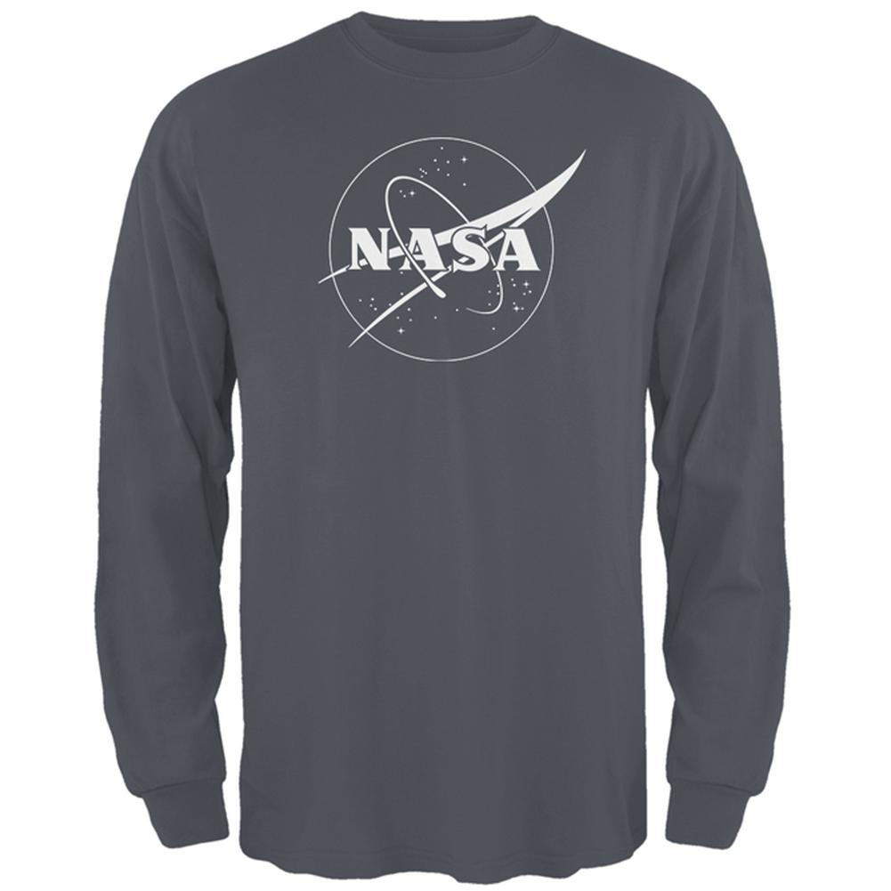 NASA Outline Logo Mens Long Sleeve T Shirt