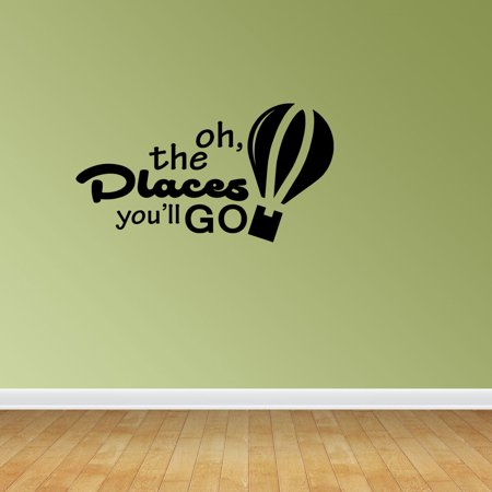 Oh The Places You'll Go Hot Air Balloons Infant Nursery Decor Bedroom Vinyl Decals Stickers -
