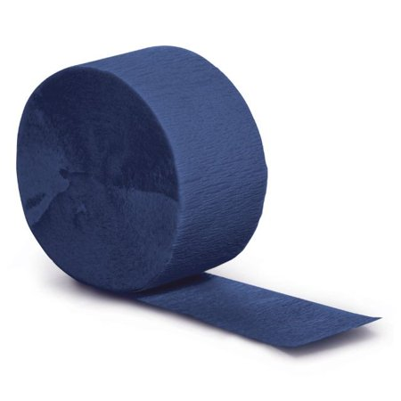 Blue Streamers (Touch of Color Crepe Streamer, 81 Ft, Navy, 1)
