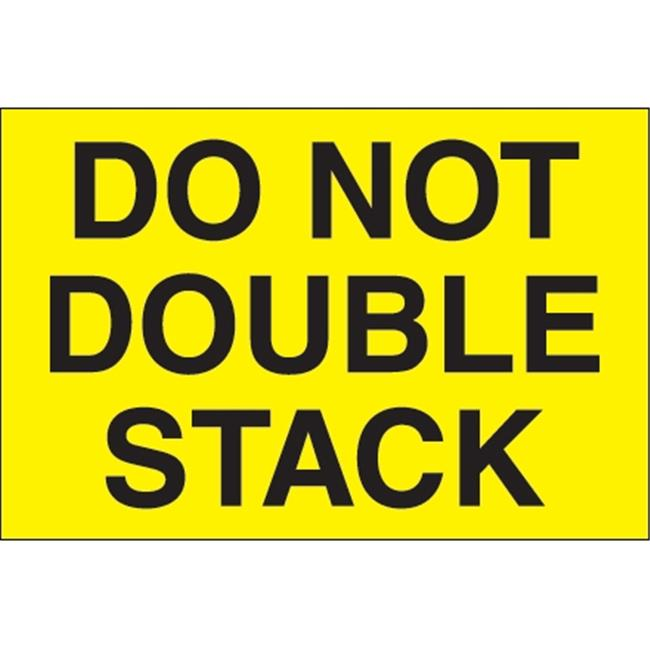 1 Roll of 500 Labels 2 x 3 Tape Logic TLDL1098 LabelsDo Not Stack Fluorescent Red