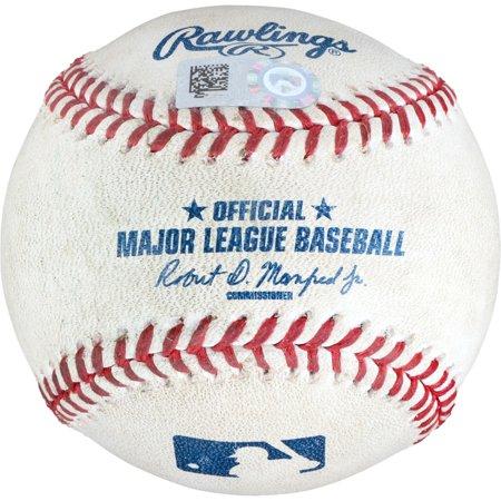 Aaron Hicks New York Yankees Game-Used Double Baseball vs. Washington Nationals on June 18, 2018 - Fanatics Authentic (Gloria Trevi Vs Alejandra Guzman June 18)