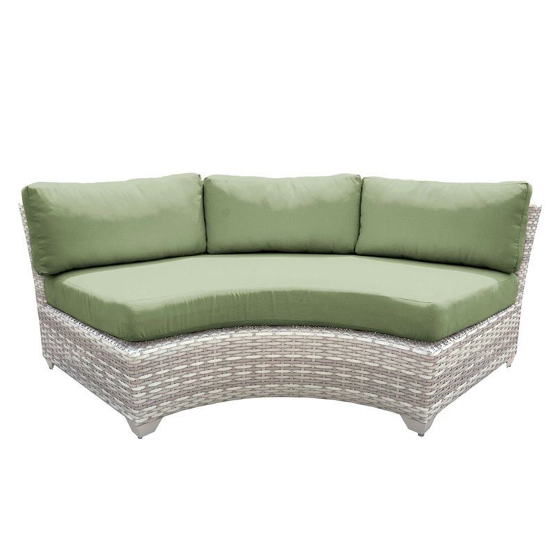 Tk Classics Outdoor Wicker Curved Armless Sofa Sectional