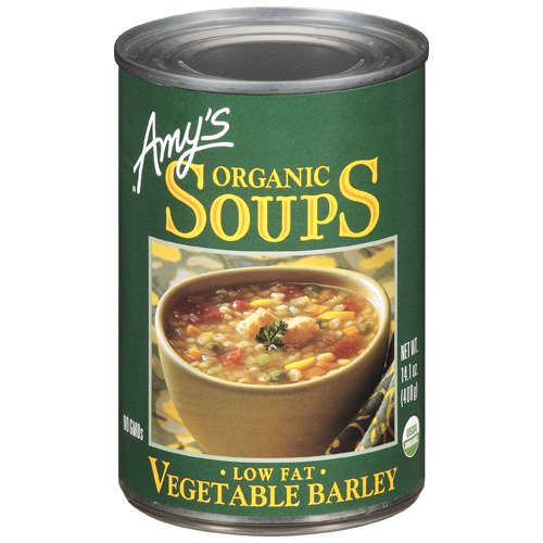 Amy's Organic Low Fat Vegetable Barley Soup, 14.1 oz