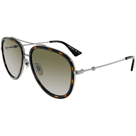 Gucci Anti-reflective GG0062S-002-57 Silver Aviator (Gucci Sunglasses Metal Frame)