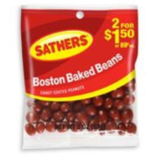 Sathers Boston Baked Beans 12 pack (2oz per pack) (Pack of 2)