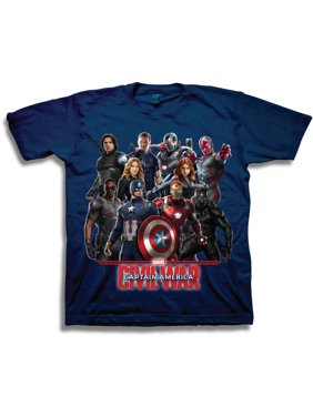 397f49aa Product Image Marvel Captain America Boys' Characters Short Sleeve T-Shirt