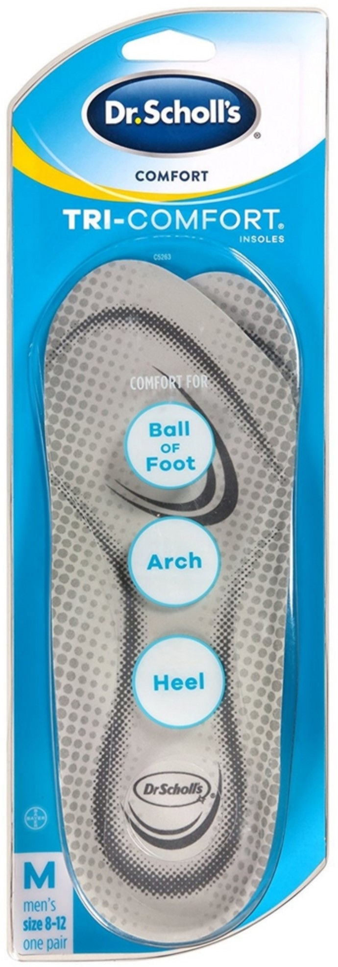 2 Pack Dr. Scholl's Tri-Comfort Men, Size 8-12 1 ea by