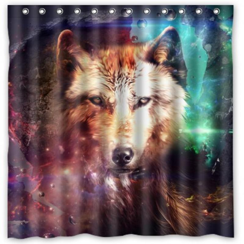 "Deer Bear Wolf Shower Curtain (66"" x 72"" ) Bath Accessory"