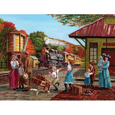 Cobble Hill Waiting For The Train Jigsaw Puzzle