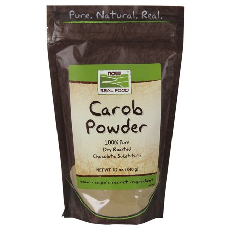 NOW Foods Real Food Carob Powder 12 (Raw Carob Powder)