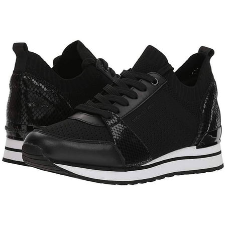 229a097f8a86 Michael Kors - Michael Kors MK Women s Billie Knit Trainer Fabric Sneakers  Shoes Black (5.5) - Walmart.com