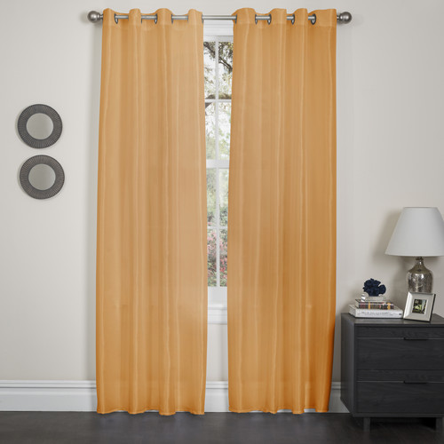 Kashi Home Holly - Faux Silk Curtain Panel - Pack of 2