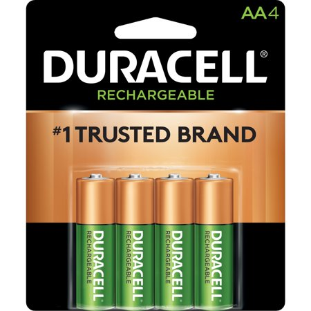 Duracell, DURNLAA4BCD, 2400mAh Rechargeable NiMH AA Battery - DX1500, 4 / Pack ()
