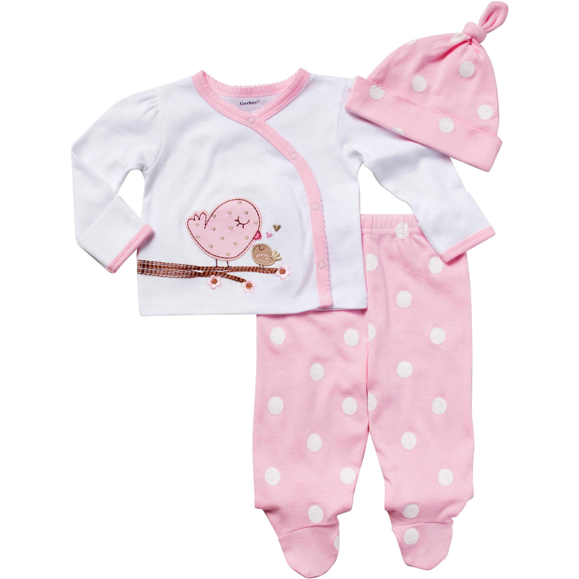 Newborn Baby Crochet Pink Flower Opp 2Pc Set Walmart